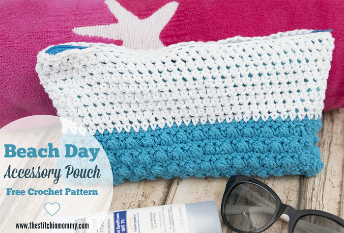Beach Day Accessory Pouch - Free Crochet Pattern #CelebrateMomCAL ...