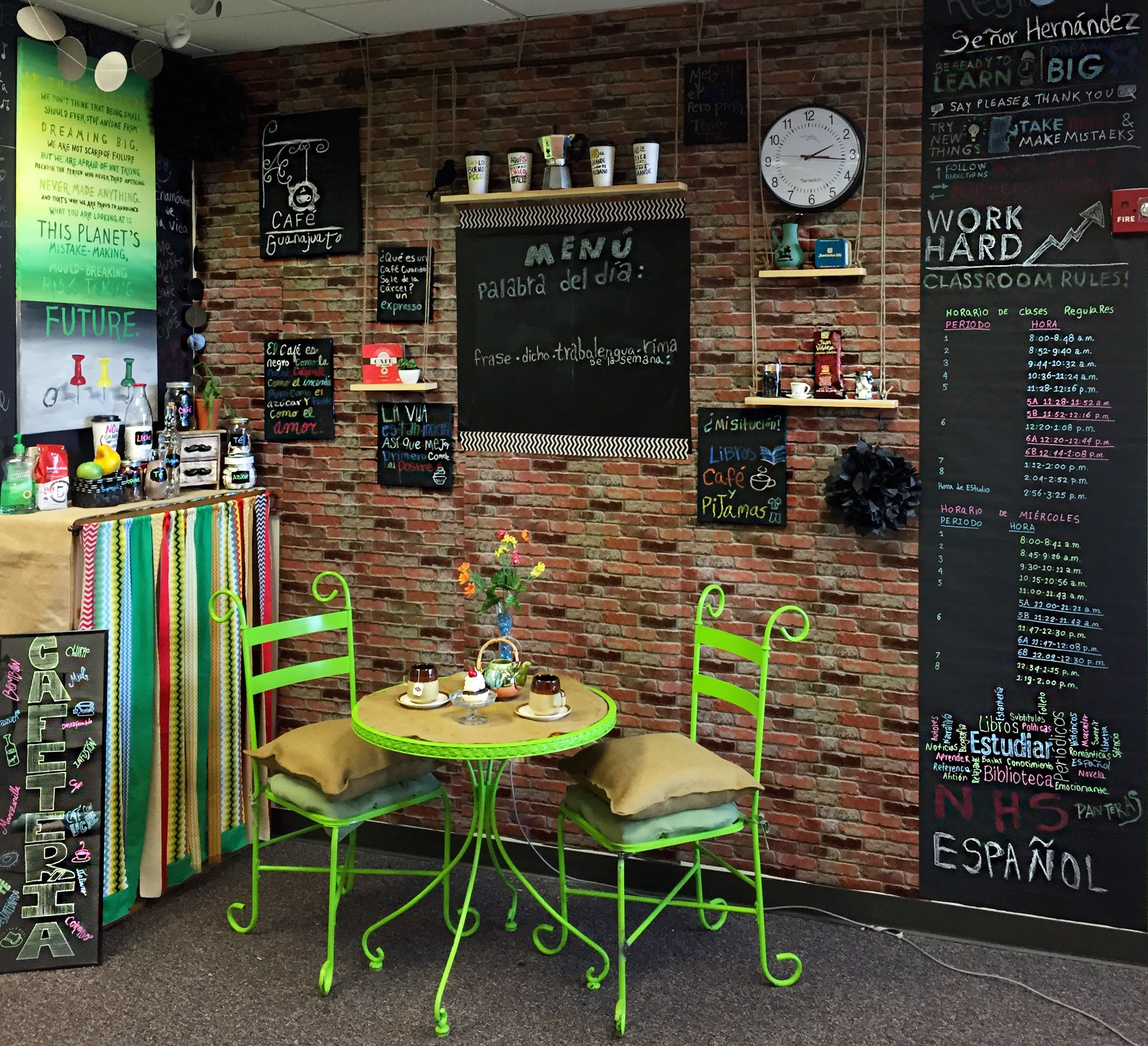 Spanish Teacher Classroom Decorations : My spanish coffee shop quot caf� guanajuato this is in a