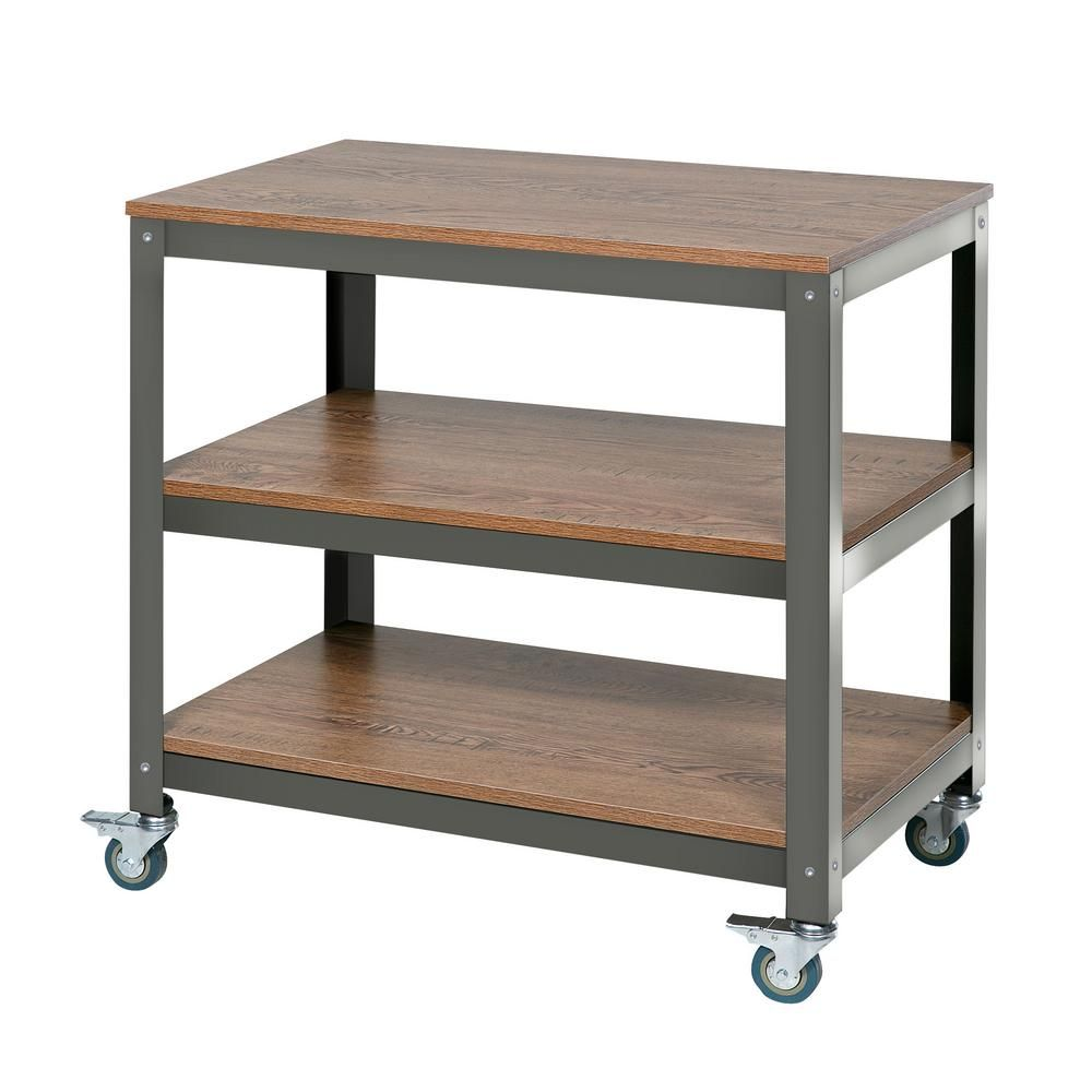 Onespace Wood Surface Loft Companion Shelf With Steel Frame 50 Jn16shlf With Images Wood Surface Brown Comfort Shelves