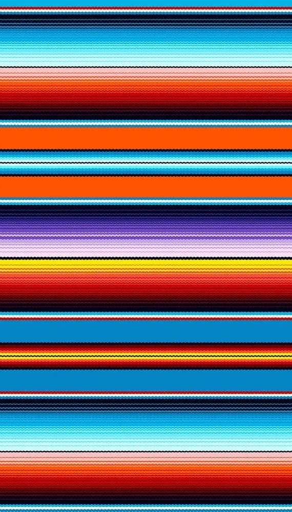 1 yard Fiesta Mexican Blanket Stripe from Elizabeth's Studio Cotton Quilt  Fabric 263 Orange