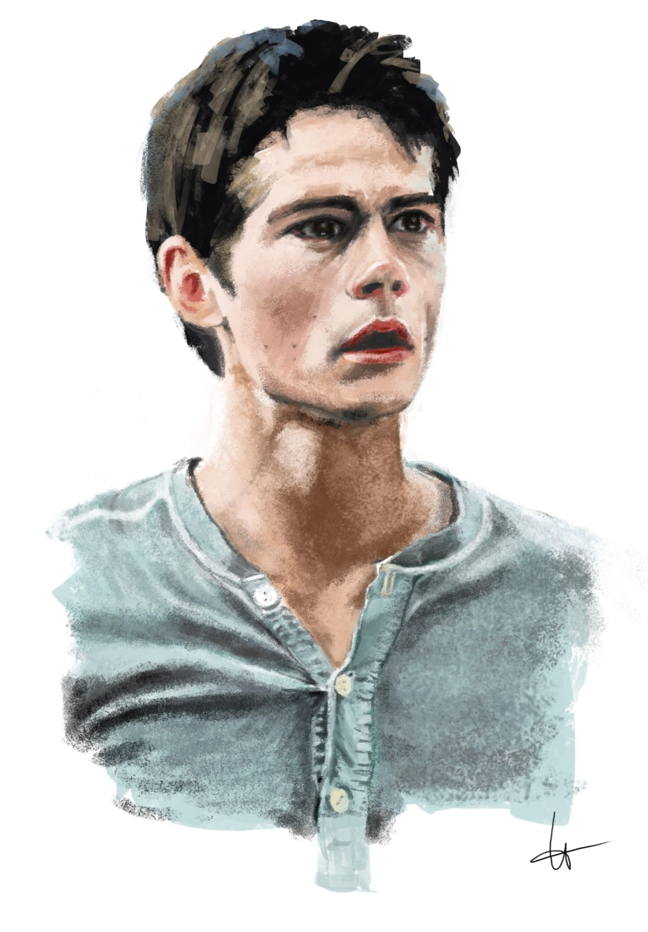 Actor Dylan O'Brien poses for a portrait during the 2012 ...  Monochromatic Portrait Dylan Obrien