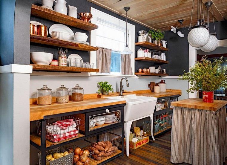 Déco cuisine rétro campagne : 35 intérieurs qui fascinent | Ilot ...