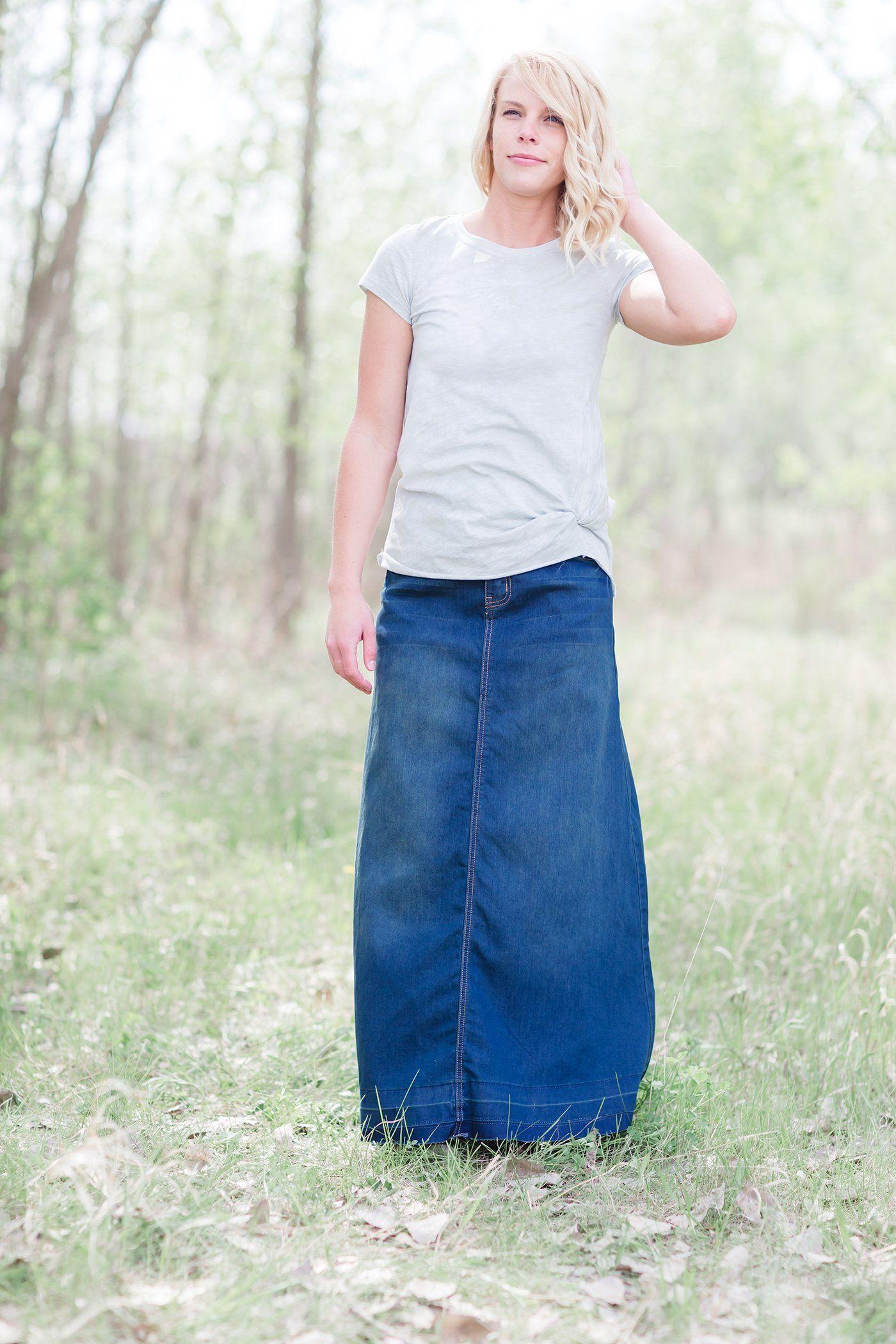 f8cf6c4eaa Modest Women s Elyse Denim Skirt