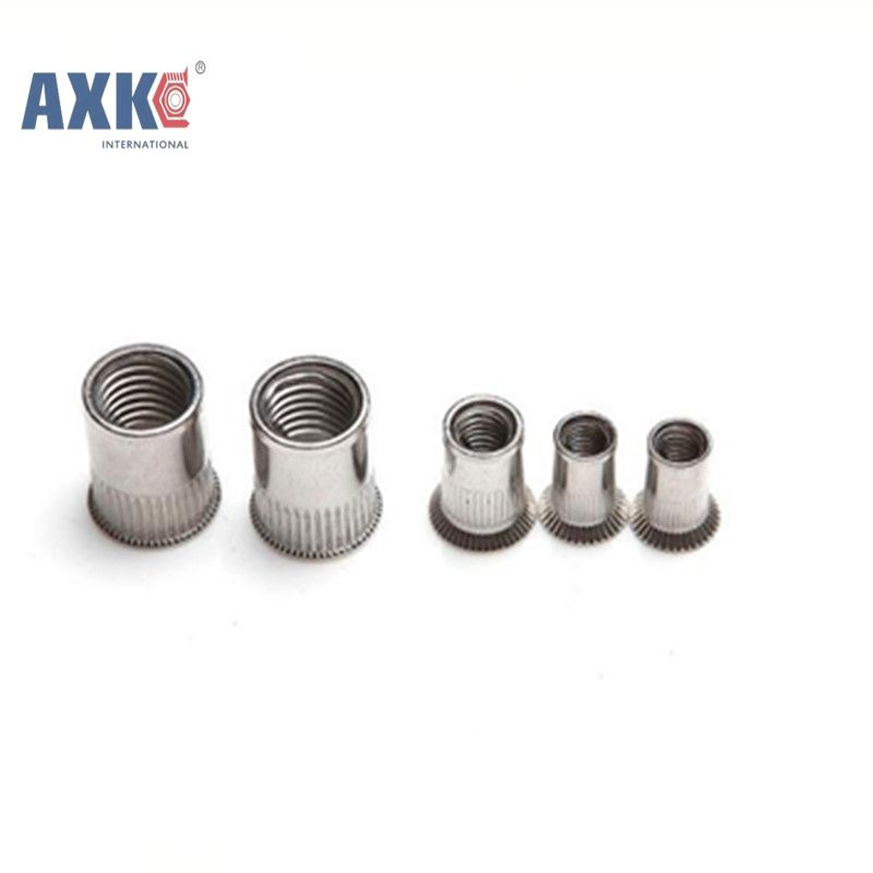 10pcs M3 M4 M5 M6 M8 M10 M12 304 Stainless Steel Rivnut Flat Head Threaded Rivet Insert Nutsert Cap Rivet Nut Axk149 Flat Head Rivet Steel