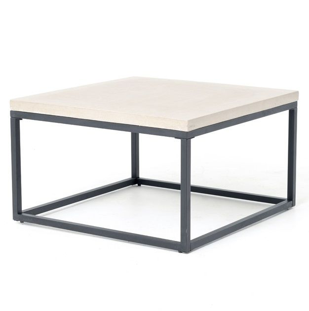 Inspired By Ancient Roman Masonry Construction Architecture And Design OurMasonry Concrete Box Frame Square Coffee Table Is Made From Solid