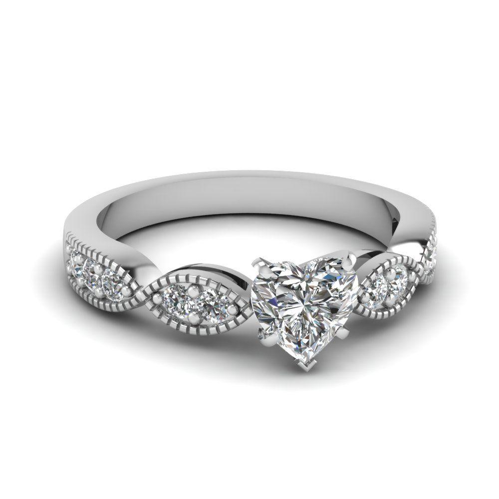 8a8c51b1cb02 heart-shaped-diamond-milgrain-weave-side-stone-ring-in-14K-white-gold -FDENS3053HTR-NL-WG