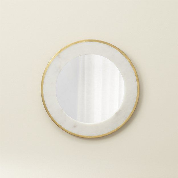 Blanche Round Wall Mirror Crate And Barrel Mirror Frame Diy Framed Mirror Wall Diy Mirror