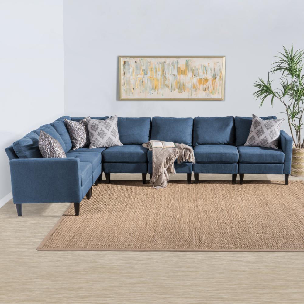 Home Fabric Sectional Sectional Sofa Sofa Set