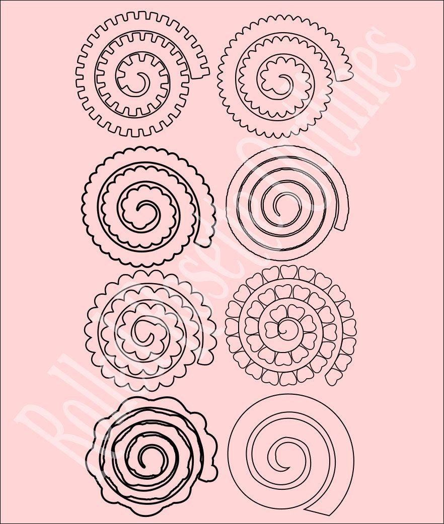 Paper Rolled Rosette Templates Diy By Catchingcolorflies
