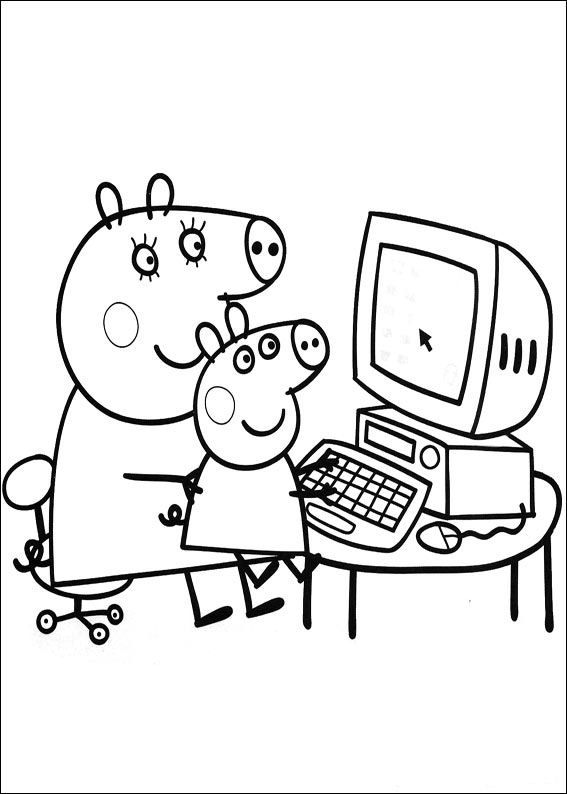 coloring page Peppa Pig Peppa Pig Pinterest Craft - new free coloring pages for peppa pig