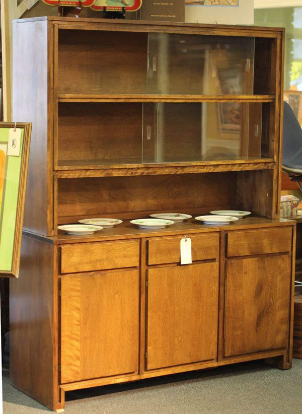 russel wright for conant ball mcm china cabinet hutch sideboard rh pinterest de