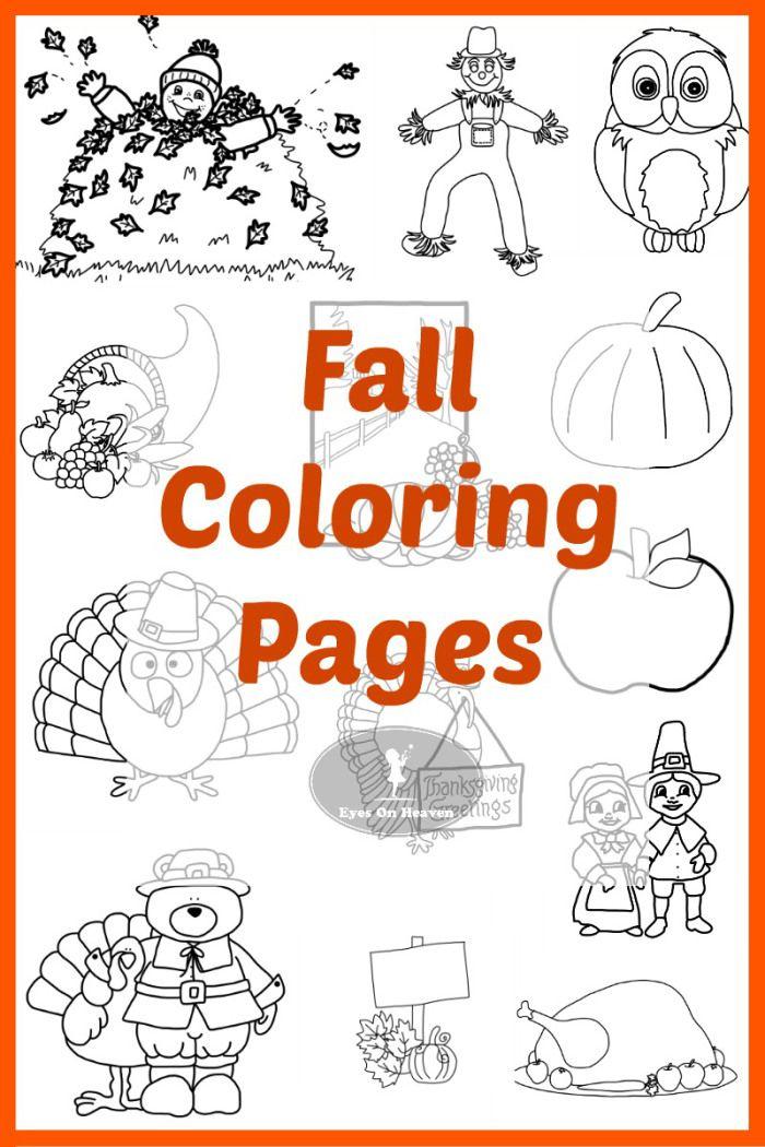 Happy Fall! Coloring Pages Fall coloring pages, Fall