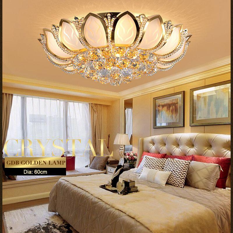 Dia60cm Modern Lotus Flower Ceiling Light Luxury