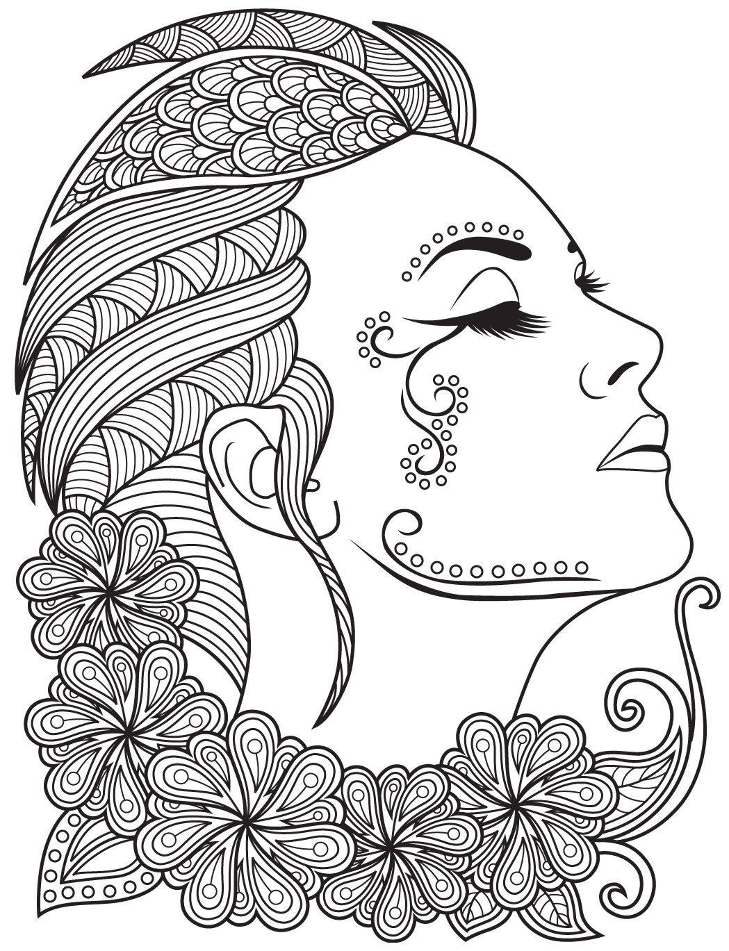 Women faces to color colorish free coloring app for adults by goodsofttech