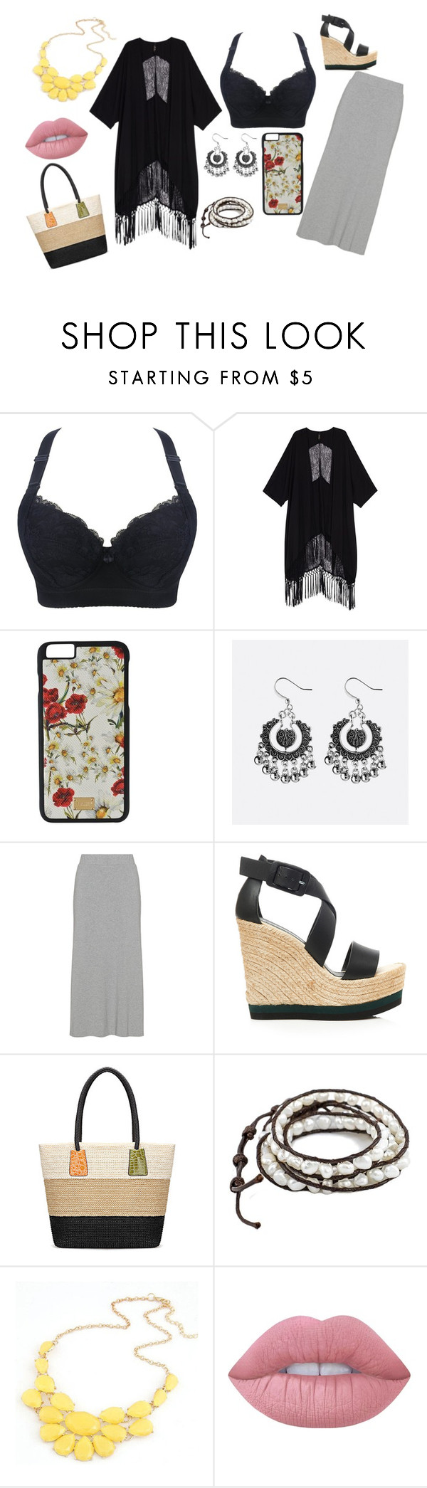 """""""Night beach"""" by nicoleluna-99 on Polyvore featuring moda, Melissa McCarthy Seven7, Dolce&Gabbana, Avenue, Palomitas by Paloma Barceló y Lime Crime"""