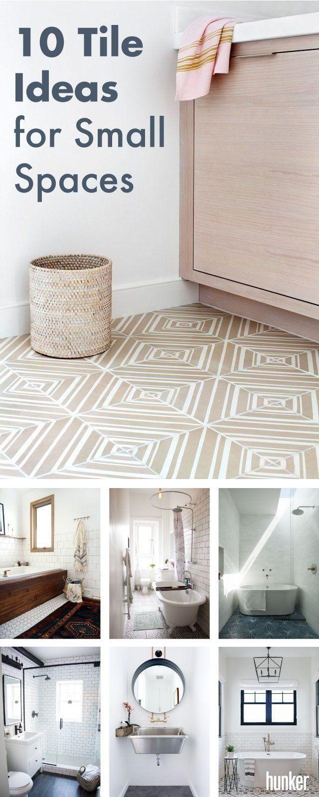 10 ceramic bathroom floor tile ideas for small spaces modern rh pinterest com
