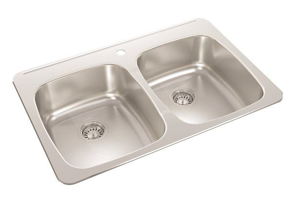 Wessan Double Drop In Kitchen Sink 20 1 2 X 31 X 7
