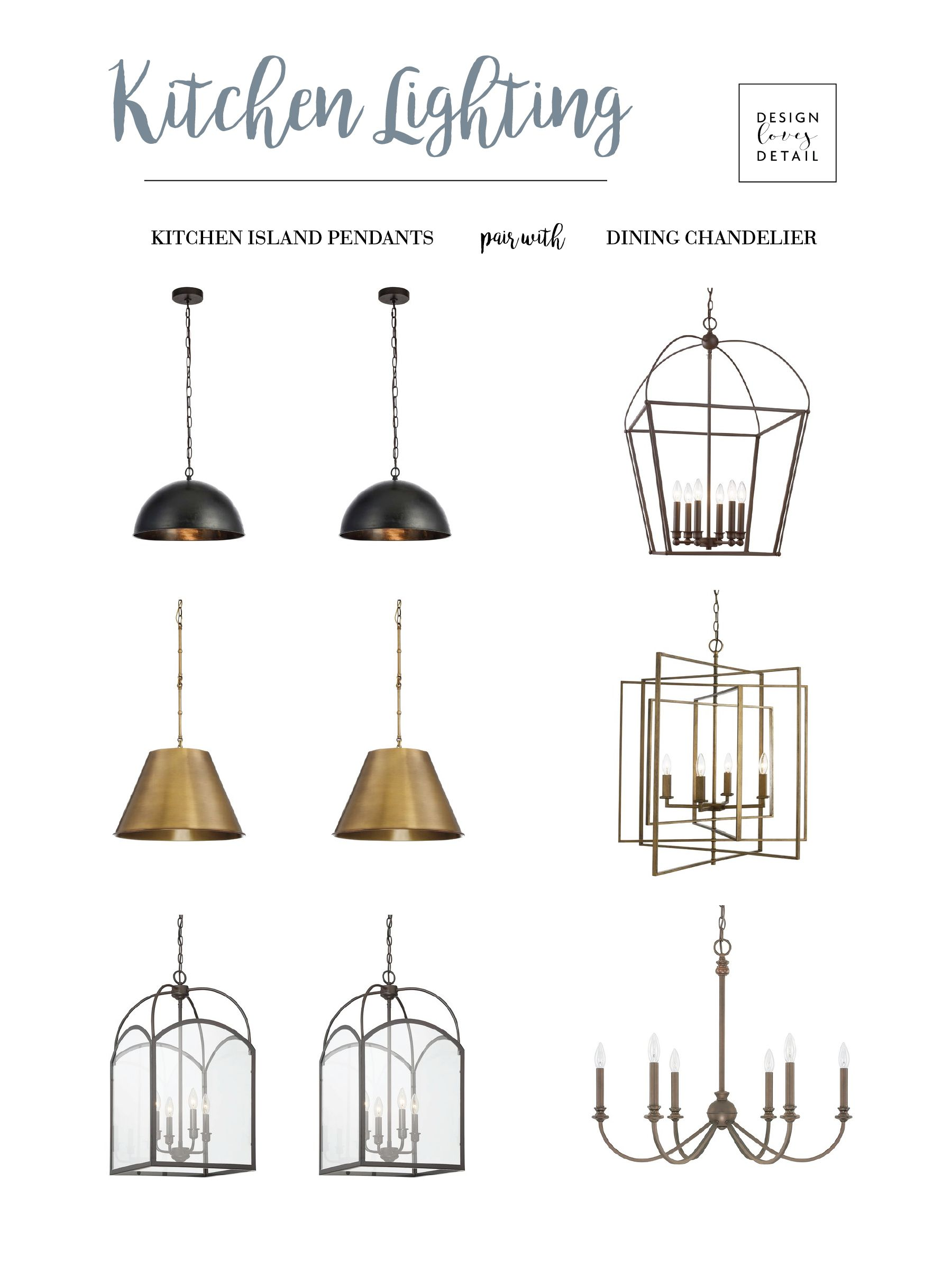 A Guide For Pairing Kitchen Island Lights With Dining Chandeliers