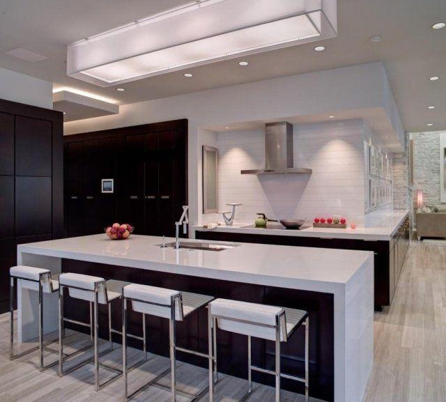 Éclairage de cuisine  45 idées suspensions ou spots à choisir House