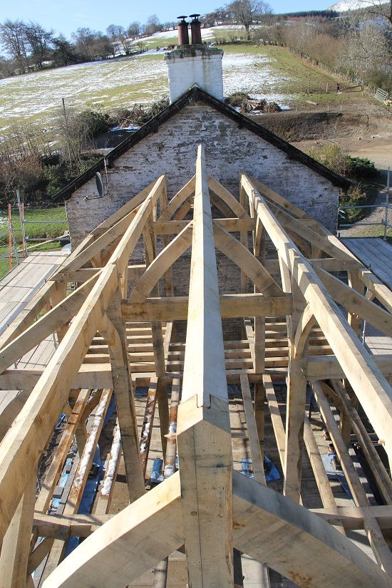 Timber frame roof structure. #oakframe by Castle Ring Oak Frame ...