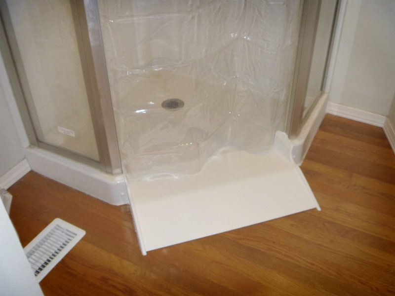 Shower Roll In Conversion Kit An Inexpensive Mobility Tool That