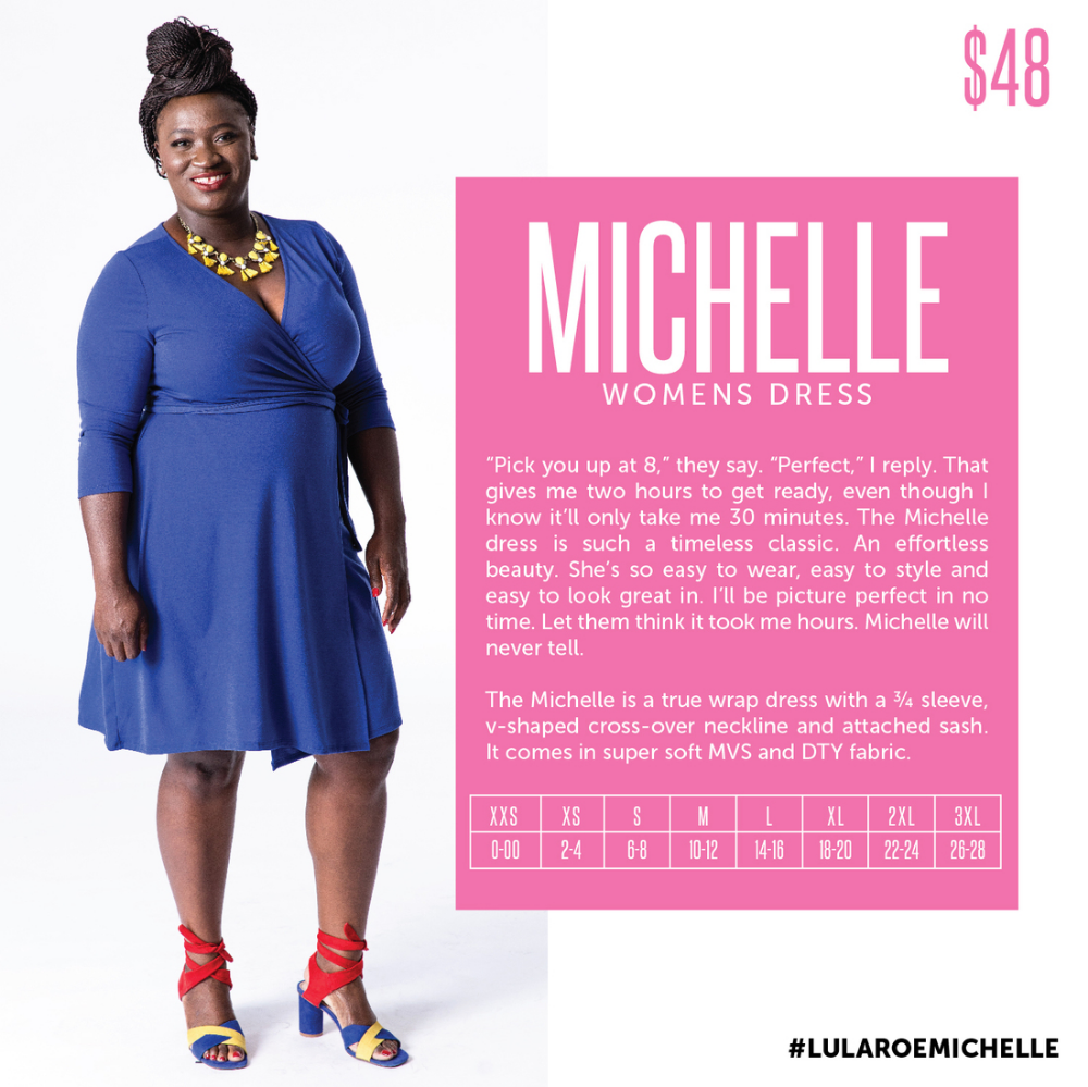 Click To Learn More About The Lularoe Michelle Wrap Dress A