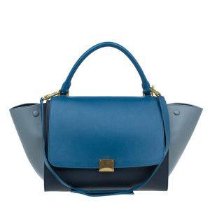 Celine Tricolor Calfskin Medium Trapeze Bag (With images