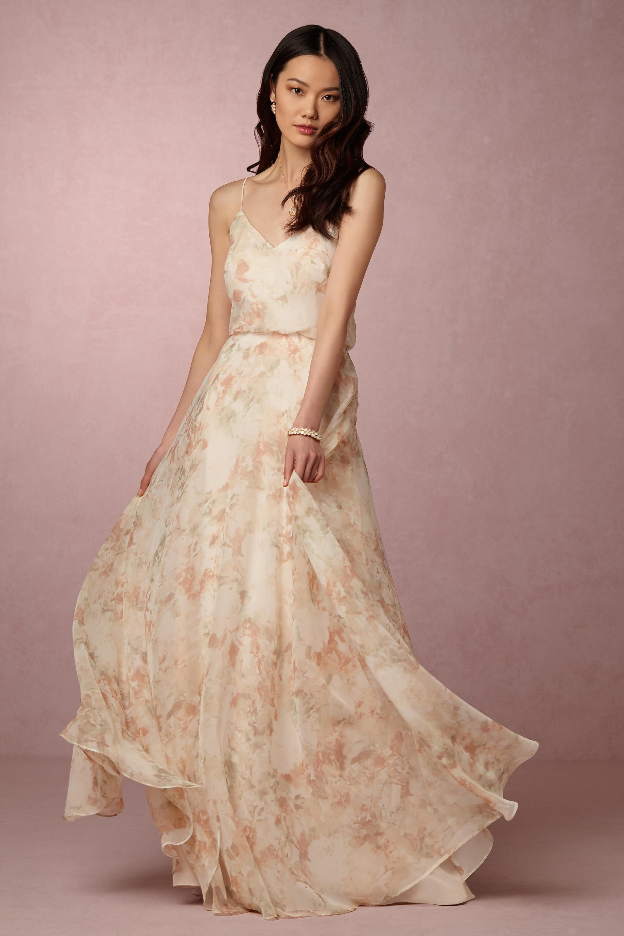 Blush floral bridesmaid dress inesse dress by jenny yoo for blush floral bridesmaid dress inesse dress by jenny yoo for bhldn ombrellifo Choice Image