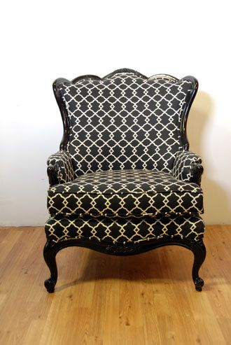 Oversized Black Pattern Armchair by metrosofa on Etsy, $1199.00