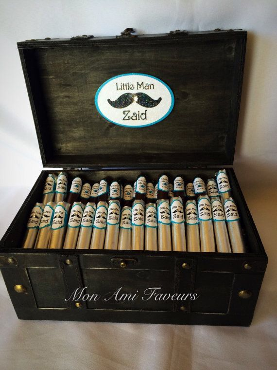 Premium Little Man Mustache Cigar Gift or Shower by MonAmiFaveurs