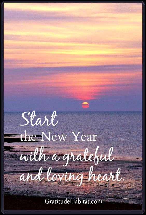 sending love and gratitude visit us at wwwgratitudehabitatcom happy new year gratitude habitat grateful
