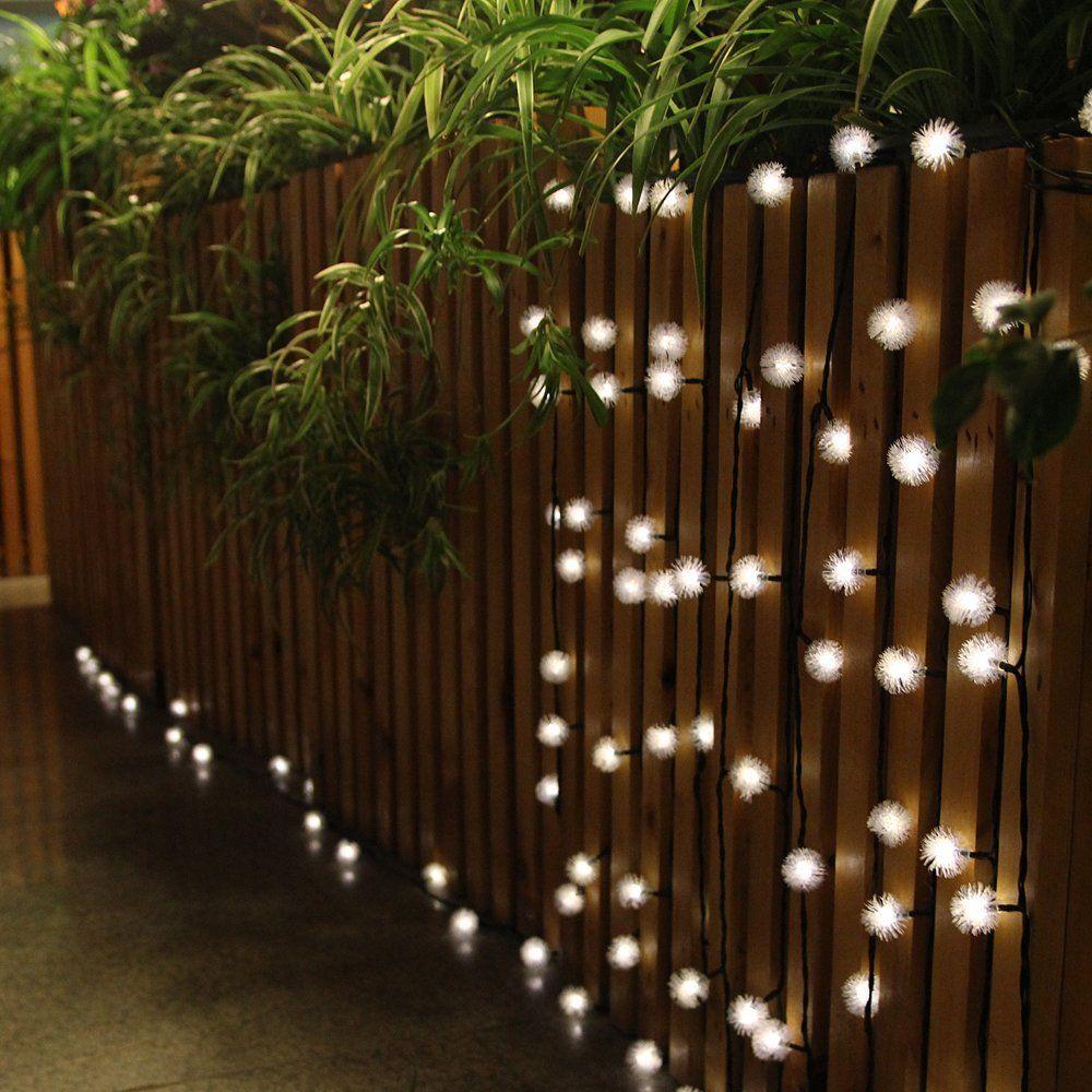 Innootech c lida bola blanca luces de solares para jard n balc n fiesta iluminaci n al aire - Antorchas solares para jardin ...