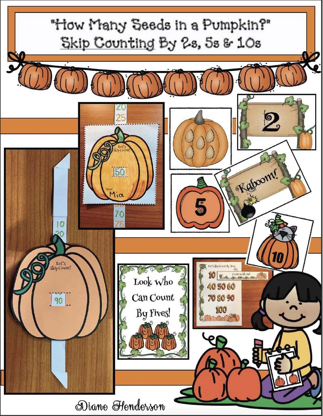 Skip Counting With How Many Seeds In A Pumpkin Story