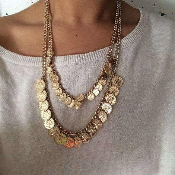Layered Faux Gold Coin Necklace Coins Gold coins and Forever 21