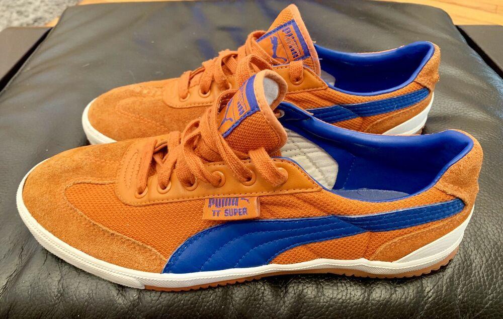 Puma Suede Super Schuhe orange blau