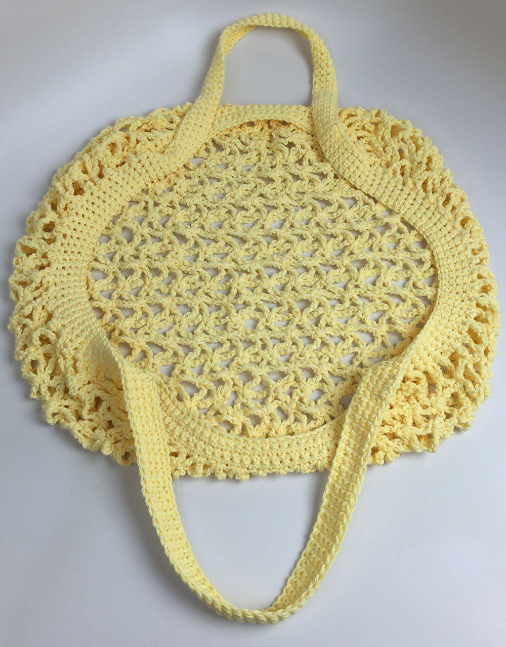 Crochet Market Bag + Tutorial   Pinterest   Bolsos, Ganchillo y ...