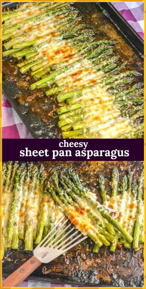 An easy side dish, this roasted garlic asparagus is cooked on a single sheet pan... #Asparagus #Cooked #Dish #Easy #easy recipes appetizers #easy recipes baking #easy recipes breakfast #easy recipes casserole #easy recipes cheap #easy recipes chicken #easy recipes crockpot #easy recipes desert #easy recipes dinner #easy recipes fast #easy recipes for 2 #easy recipes for a crowd #easy recipes for beginners #easy recipes for college students #easy recipes for desserts #easy recipes for family #eas