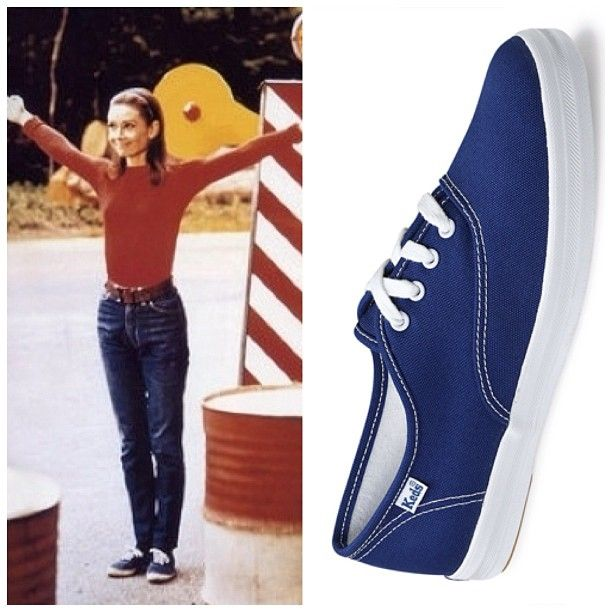 audrey hepburn in her navy keds shoes fashion audrey