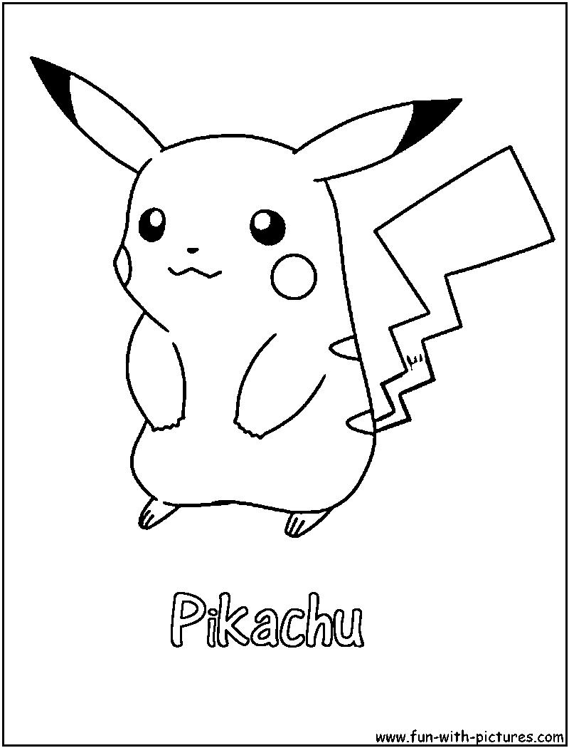 Pikachu Coloring Page | Pokemon | Pinterest | Pokémon, Pokemon ...