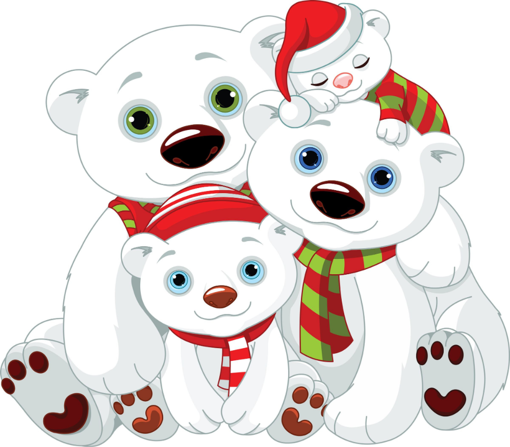 Familia De Osos Polares Navidenos Busqueda De Google Dibujo De Navidad Oso Navideno Imagenes De Navidad Fondos