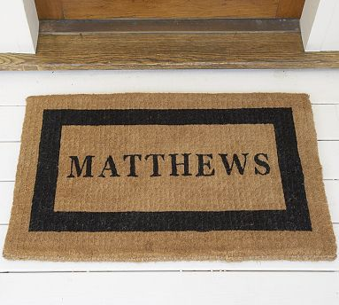 Personalized Doormat 22 X 36 Quot Black At Pottery Barn
