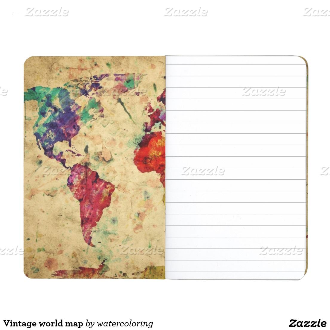 Vintage world map journal travel bug pinterest journal and vintage world map journal gumiabroncs Choice Image