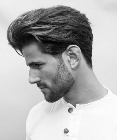 Loose Pompadour Haircuts Straight Hair Medium Length Hair Men Medium Length Hair Styles