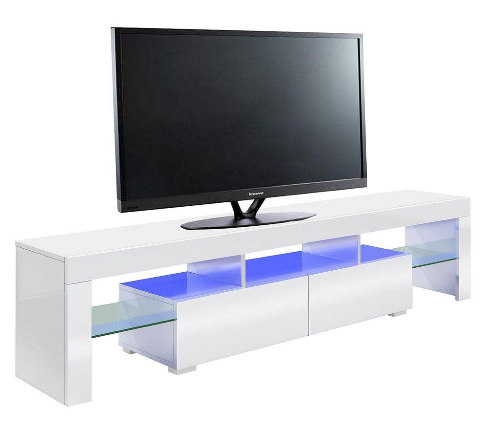 meuble tv led gamer predator blanc pas