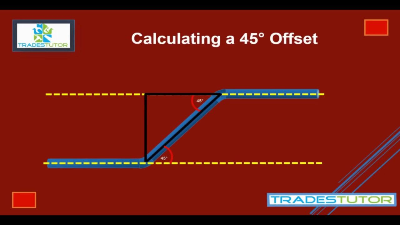 Calculating A 45 Degree Offset Piping System Youtube System Calculator Piping