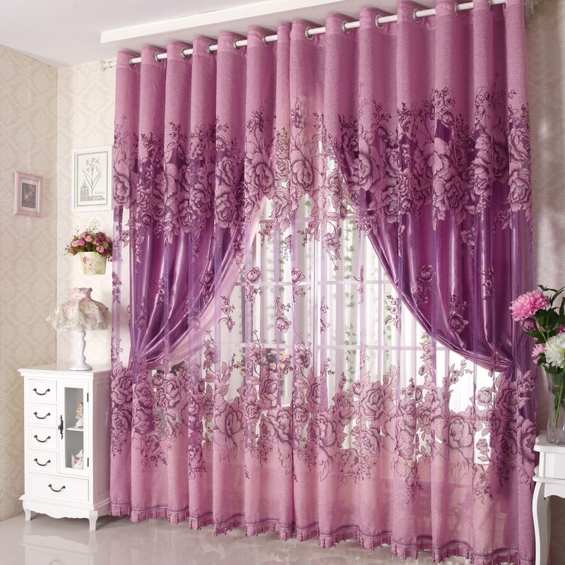 16 excellent purple bedroom curtains design ideas baby for Bedroom curtain designs photos