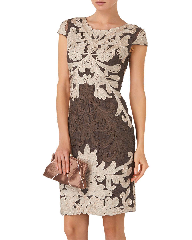 Neutral Venizia Tapework Dress