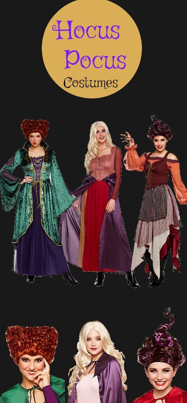 Vintage witch costumes - Hocus Pocus\u0027s Sanderson sisters witches are - sisters halloween costume ideas