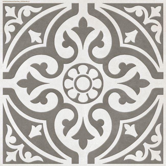Devon Stone Grey Feature Floor Tile 33x33cm Tons Of Tiles Metro