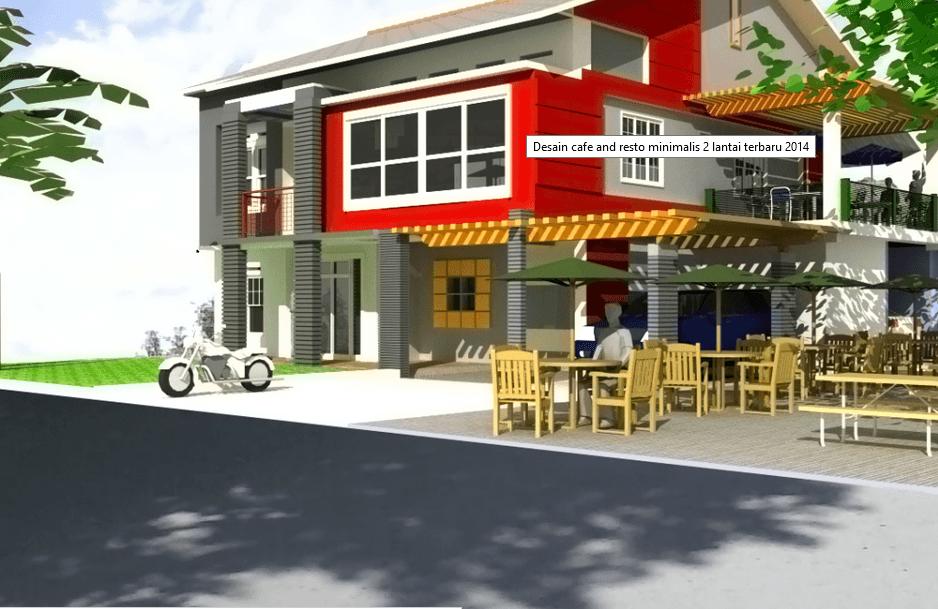 Desain cafe dan restoran minimalis lantai